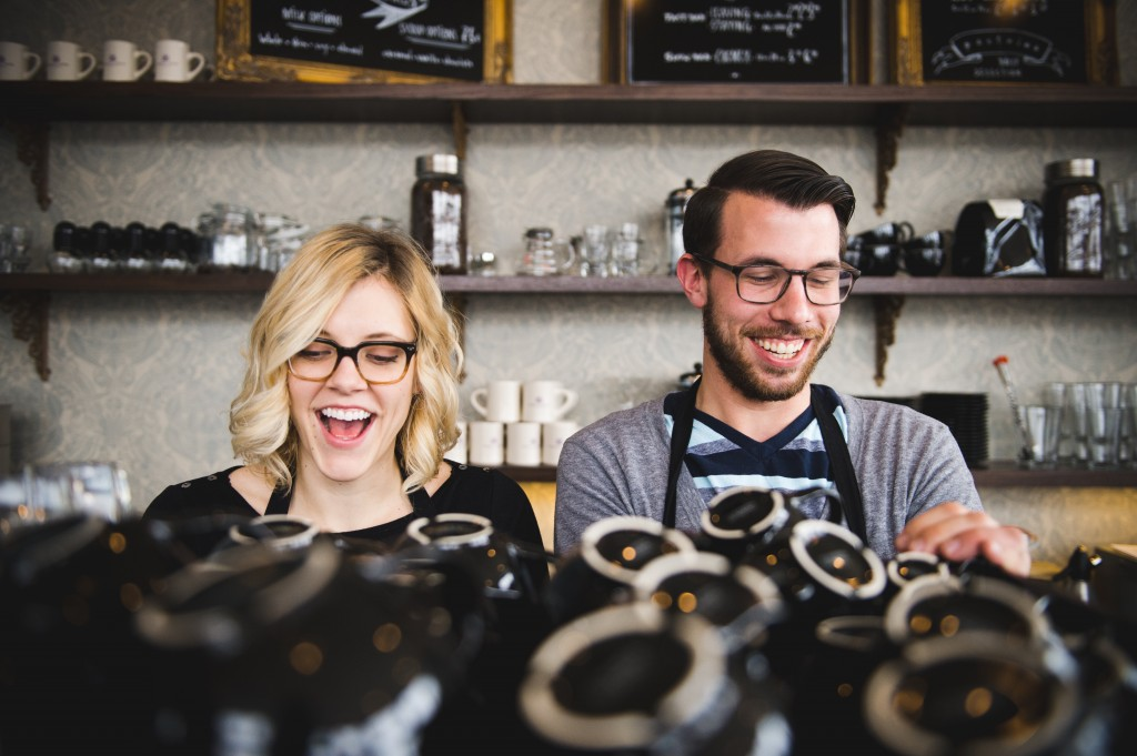 Madison Chandler and Mark Smesrud, co-directors of Purple Door Coffee. Photo courtesy of Purple Door Coffee.