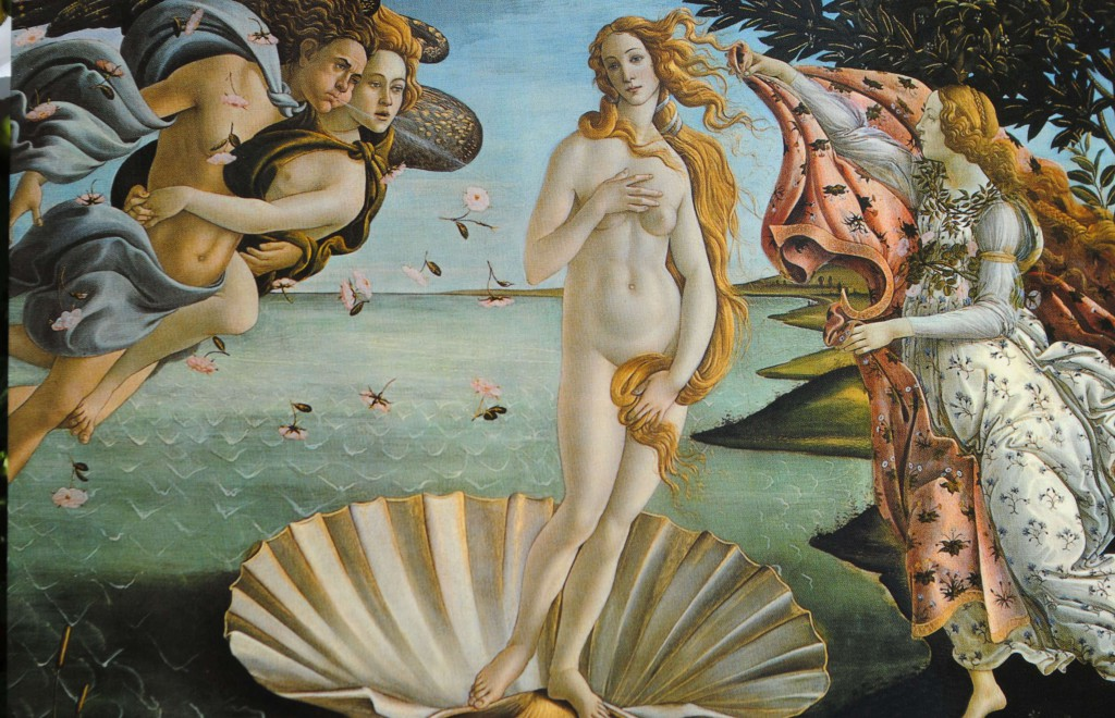 Sandro Botticelli's The Birth of Venus, c. 1486.